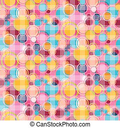 Seamless Vector Abstract Bubbles Circle Pattern - Background