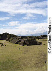 Monte Alban - mexico - The monumental center of Monte Albán...