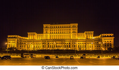 Palace of the Parliament in Bucharest, Romania