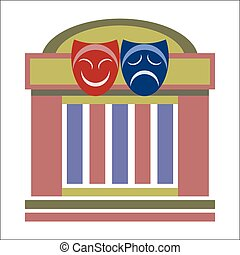 Drama theater and masks - Drama theater, comedy and tragedy...