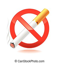 No smoking symbol isolated on white vector