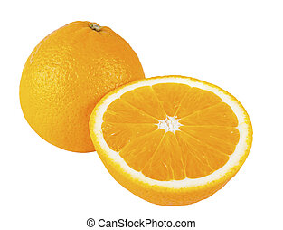 entire and cut oranges iso