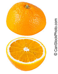 two oranges over each other