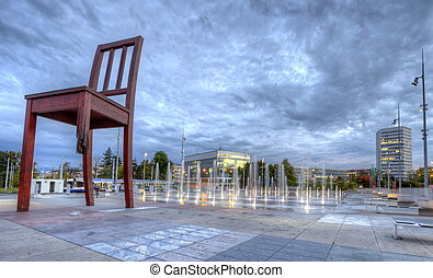 United-Nations place, Geneva, Switzerland, HDR
