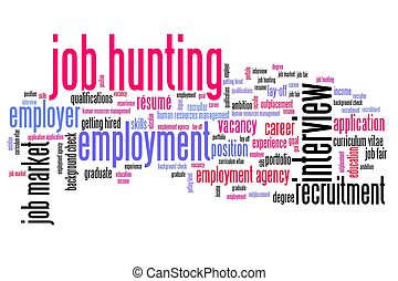Job search issues and concepts word cloud illustration. Word...