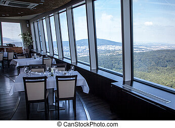 View from restaurant Altitude at Bratislava, Slovakia -...