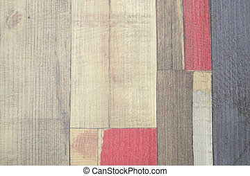painted faux parquet as colored planks, abstract background