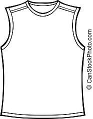 Sleeveless Shirt  - Line art of a shirt.