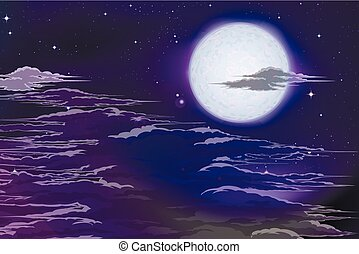 moon behind clouds - The moon behind the clouds Planet of...