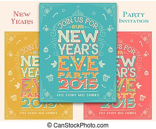 New Years Eve party invitation - New Years eve party...