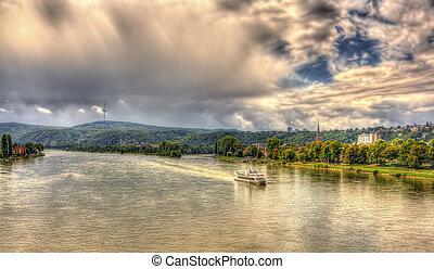 Rhine river near Koblenz, Germany