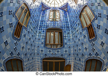 Interior of the famous casa Battlo building - The interior...