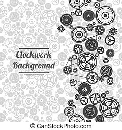 seamless gearwheel mechanism background Vector illustration
