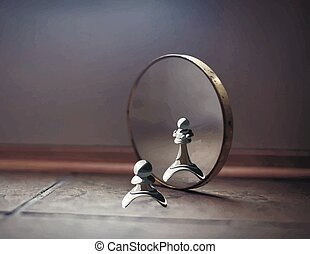 pawn in the mirror - Pawn in the mirror sees the Queen. High...