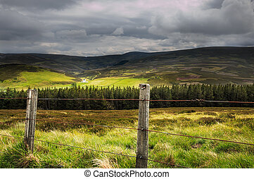 View of Scottish Highlands