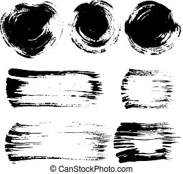 Brush stroke elements set