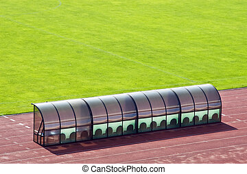 Coach bench near the field