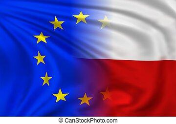 EU and Poland flag
