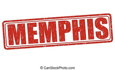 Memphis stamp - Memphis grunge rubber stamp on white...