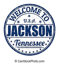 Welcome to Jackson stamp - Welcome to Jackson grunge rubber...