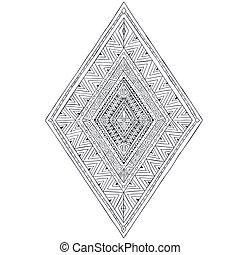 初始, 圖畫, 种族, 部落, doddle, 菱形, 3.,
