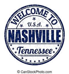 Welcome to Nashville stamp - Welcome to Nashville grunge...