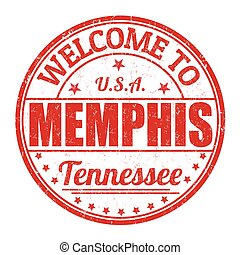 Welcome to Memphis stamp - Welcome to Memphis grunge rubber...