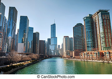 Trump International Hotel and Tower in Chicago, IL in...