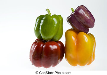 Four bell peppers
