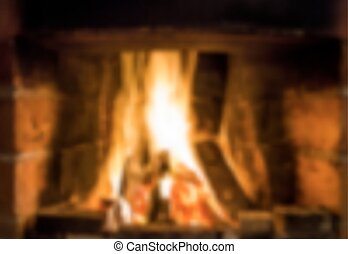 fireplace - Fireplace with fire. Vector illustration....
