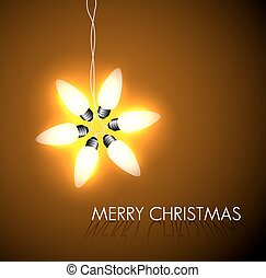 Vector background with christmas star