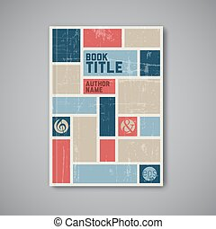 Retro Vector abstract brochure design template - Retro...