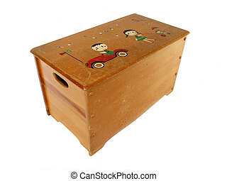 Toy Box - Vintage wooden toy box from the 1950s