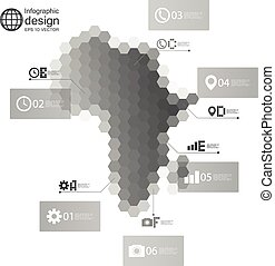 Africa map, Infographic template for business design,...