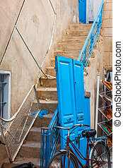 The courtyard of a typical house in Sidi Bou Said,Tunisia