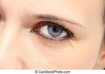 azul, ojos