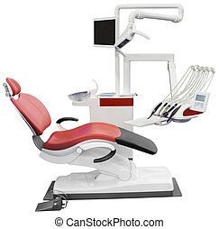 Dentist Chair - Dental Chair Isolated with Clipping Path