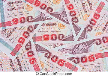 thai money , 100 baht banknotes for money concepts - thai...