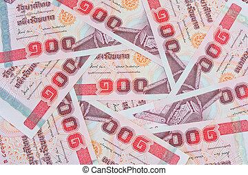 thai money , 100 baht banknotes for money concepts - thai...