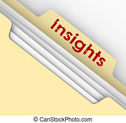 Insight Ideas Communication Information Analysis Manila File...