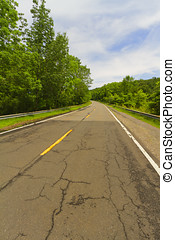Paved road. - General view of a paved road