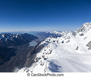 New Zealand snow mountains
