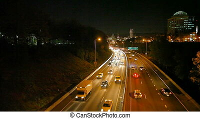 Traffic on I-84 in Portland OR 1080 - Rush Hour Traffic on...