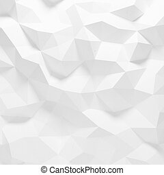 Abstract faceted geometric pattern - Abstract white triangle...
