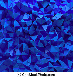 Blue faceted 3D background - Displaced 3d triangular...