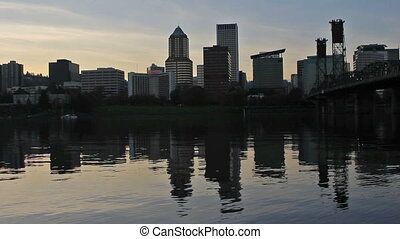 Portland OR Downtown City Skyline - Portland Oregon Downtown...