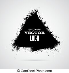 Grunge ink splashed triangle background template