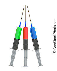 injection - 3d rendered illustration of syringe