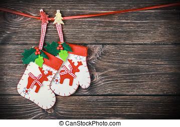 Christmas stocking - Christmas stocking hanging on the...