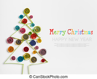 Christmas decorations made of paper quilling with space for...